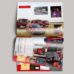 Calendrier pour les pompiers de Damville - édition 2016