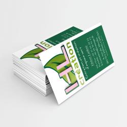 cartes de visite pour les paysagistes de l'entreprise HL création